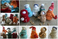 Transform a Mitten into an adorable Snow men and women! You'll love to try this fun DIY and don't they look fabulous.