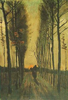 off Hand made oil painting reproduction of Avenue Of Poplars At Sunset, one of the most famous paintings by Vincent Van Gogh. Vincent Van Gogh's painting Avenue of Poplars at Sunset in one of his earlier works, done in During this per. Art Van, Van Gogh Art, Vincent Van Gogh, Van Gogh Pinturas, Van Gogh Paintings, Paul Gauguin, Fine Art, Renoir, Claude Monet