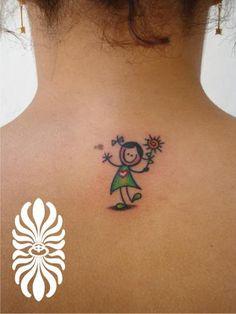 tattoo boneca palito com nome - Pesquisa Google                                                                                                                                                                                 Mais