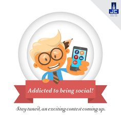 Addicted to being #Social! Stay tuned, an exciting contest coming up.Check out the TnC to be uploaded tomorrow.