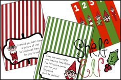 Elf on the Shelf Printables - tags from the elf explaining his nightly mischief! Christmas Love, Christmas Countdown, All Things Christmas, Winter Christmas, Christmas Ideas, Xmas, Christmas Goodies, Holiday Ideas, Christmas Crafts