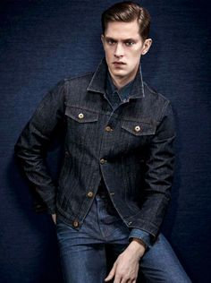 Mathias Lauridsen Models Fall 2014 Denim Fashions for DL1961 image DL1961 Fall Winter 2014 Look Book Mathias Lauridsen 001