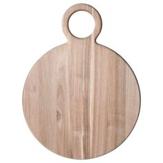 Pfaltzgraff 21 in. Natural Round Acacia Wood Cheese Board 5222910 - The Home Depot
