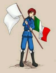 The two flags of Italy