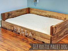 Diy Wooden Dog Bed - 55 Panemorfa Krebatakia Skylwn Apo Paletes Rustic Dog Beds Easy To Make Pallet Dog Bed Pallet Furniture Diy Pallet Dog Diy Pallet Dog Bed Home Depot Y. Rustic Dog Beds, Wood Dog Bed, Pallet Dog Beds, Diy Dog Bed, Dog Bed Frame, Cute Dog Beds, Bed Frames, Bed Made From Pallets, Palette Diy