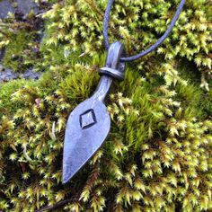 Odins spear Gungnir. Hand forged pendant with by TrollhillForge