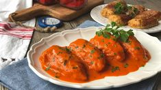 pimientos-de-piquillo-rellenos-de-carne-1 Tostadas, Carne Picada, Tandoori Chicken, Ground Beef, Thai Red Curry, Meat, Ethnic Recipes, Food, Canning Recipes