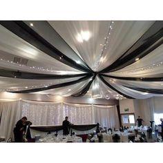 Sheer Curtain Panels, Sheer Drapes, Drapes Curtains, Blackout Drapes, Ceiling Decor, Ceiling Lights, Tulle Ceiling, Ceiling Ideas, Fabric Ceiling