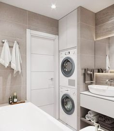 25 most popular basement bathroom remodel for small space 00020 - Bathroom Ideas Laundry Room Bathroom, Laundry Room Design, Basement Bathroom, White Bathroom, Master Bathrooms, Mosaic Bathroom, Shower Bathroom, Luxury Bathrooms, Modern Bathrooms