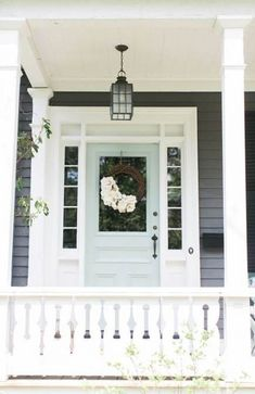 Eight fabulous front door ideas – Ramshackle Glam - Dekoration Ideen 2019 Home Design, Interior Design, Interior Ideas, Young House Love, Grey Houses, Modern Houses, Front Door Colors, Exterior House Colors, Luxury Houses