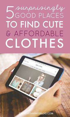 Affordable Clothing Sites | This post is THE answer to my retail prayers! I've always had a hard time finding stylish outfits that are flattering, without being super expensive. Whenever I google Shopping Tips Clothes, or Clothing for Women, I always find all this great looking stuff that is so far above my budget. These 5 clothing sites have made it ridiculously easy to look good and save money too.