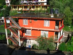 Typical house in Manali India Lots of color