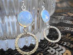 Opalite Gemstone Earrings by TigerbytheTale on Etsy
