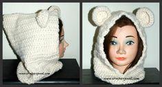 Crochet Adult or Child Bear Cowl