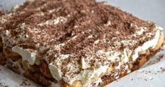 Short And Sweet. Greek Recipes, Ice Cream, Cream Cake, Tiramisu, Sweet Treats, Good Food, Sweets, Chocolate, Cooking