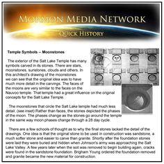 MormonMediaNetwork.com -- Moonstones on the Salt Lake temple