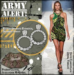 Bring out the commander-in-chic with #ShaheenAbbasFineJewellery! #ArmyChic