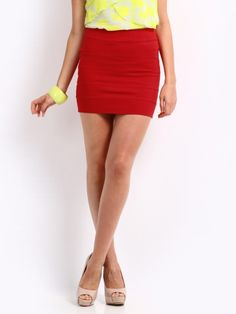 Red Bodycon Skirt found on klip.in