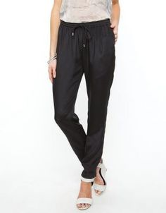 The Dion Lee Line 2 Track Pants feature an elasticised waistband with drawstring detail, two concealed pockets and have a silk composition. The Dion Lee Line 2 Track Pants have a relaxed fit and fall to the ankle. Silk Pants, Harem Pants, Dion Lee, Lounge Pants, Black Silk, Parachute Pants, Composition, Track, Pockets