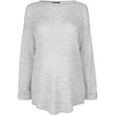 TOPSHOP MATERNITY Long Sleeve Slub Top ($38) ❤ liked on Polyvore featuring maternity and grey