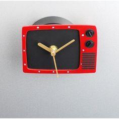 Fridge Clock Television Magnet