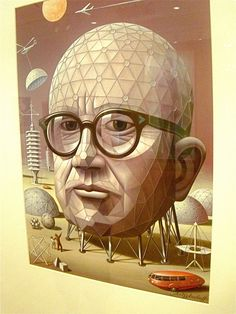 """Richard Buckminster Fuller July 12, 1895 – July 1, 1983) was an American neo-futuristic architect, systems theorist, author, designer and inventor.    Fuller published more than 30 books, coining terms such as """"Spaceship Earth"""".  He also developed numerous inventions, mainly architectural designs, and popularized the widely known geodesic dome.    Buckminster Fuller was the second president of Mensa from 1974 to 1983."""