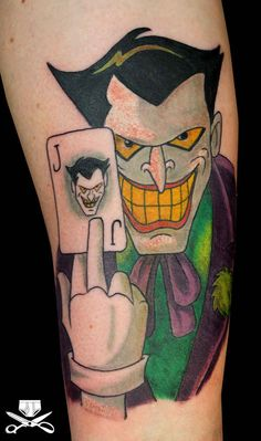 A badass Joker: | 21 Epically Nostalgic �01990s Cartoons As Tattoos