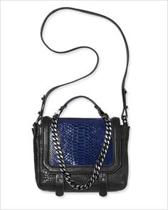CROCODILE-PATTERNED LEATHER BAG Lambskin napa with metal chain, $99; hm.com.