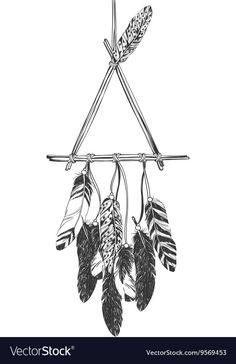 native american indians Native American Indian Dreamcatcher with feathers Vector Image Native American Drawing, Native American Tattoos, Native Tattoos, Dream Catcher Native American, Native American Design, American Indian Art, American Indians, Native American Dreamcatcher, American Symbols