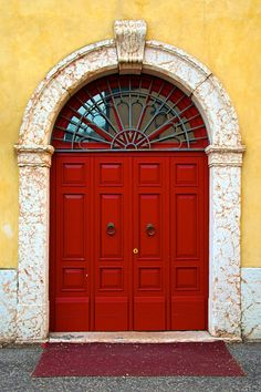pictures of doors and gateways | Red Door by Tomasz Podhalański, via 500px
