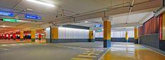 Díaz y Díaz Arquitectos. Aparcamiento diseño. policarbonato retroiluminado. Color / Parking design. Architecture. Polycarbonate