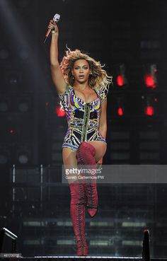 Entertainer Beyonce performs on stage during 'The Mrs. Carter Show World Tour' at the O2 Arena on March 6, 2014 in London, England.