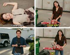 Ellie, Laurie and Travis. Cougar Town Season 3