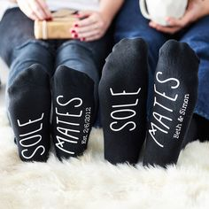 his and hers sole mate set of socks by alphabet interiors | notonthehighstreet.com                                                                                                                                                      More