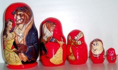 Beauty and traditional russian nesting doll by Viktoriyasshop, $30.00