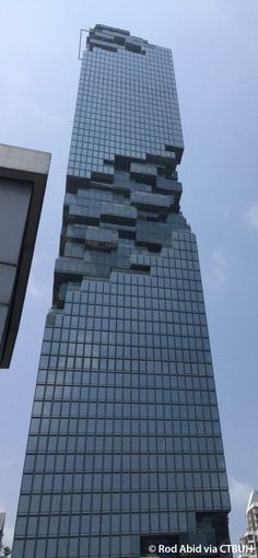 MahaNakhon - The Skyscraper Center, Bangkok Thailand Unusual Buildings, Interesting Buildings, Amazing Buildings, Modern Buildings, Futuristic Architecture, Facade Architecture, Beautiful Architecture, Contemporary Architecture, High Rise Building