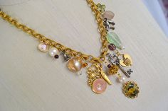 Vintage Charm Necklace by Toide on Etsy, $50.00