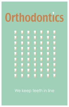 Orthodontics 11x17 minimalism poster print - Graduation, Tacher Gifts - Home & Dorm Decor. $16.00, via Etsy.