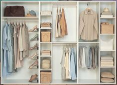 Walk-In Wardrobe redesign idea - some ideas in here I like, others maybe not.