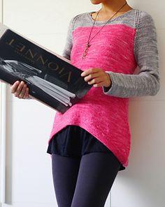 Knit bicolour shirt