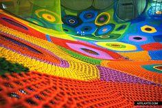 Interactive Crocheted Playgrounds // Toshiko Horiuchi-McAdam