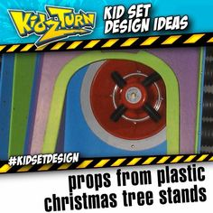 Props from plastic Christmas tree stands. these are a great resource for #kidsetdesign - INSTAGRAM VIDEO - (click to play) -   for full description follow the Instagram Link -