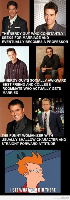 this is probably why i like How i met your mother so much lol.. alot like Friends if you pay attention