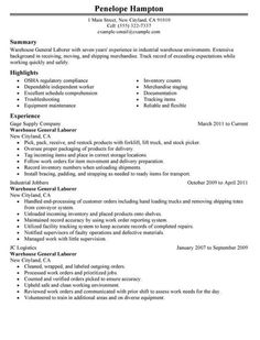 resume sample for general labor httptopresumeinforesume