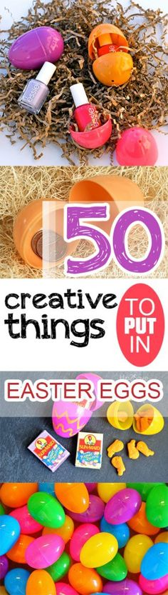 100 things to put in easter eggs that arent candy easter 50 creative things to put in easter eggs negle Choice Image