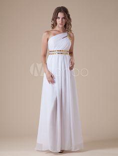 #Milanoo.com Ltd          #Evening Dresses          #Sexy #White #Chiffon #Satin #Shoulder #Sash #Evening #Dress                  Sexy White Chiffon Satin One Shoulder Sash Evening Dress                                                http://www.snaproduct.com/product.aspx?PID=5693733