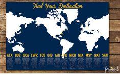 Printable Seating Chart Travel Themed Wedding, World Map Seating Chart