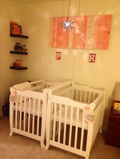 Our twin girl nursery!