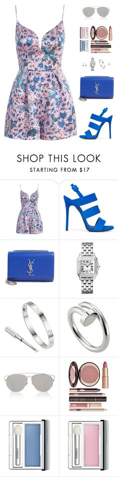 """Sin título #4967"" by mdmsb on Polyvore featuring moda, Zimmermann, Giuseppe Zanotti, Yves Saint Laurent, Christian Dior, Charlotte Tilbury y Clinique"