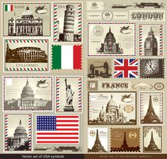 Retro Stamp Pattern Shower Curtain Bathroom Waterproof Fabric 12 Hooks 71 Inch in Home & Garden, Bath, Shower Curtains Bathroom Shower Curtains, Fabric Shower Curtains, Travel Stamp, World Thinking Day, Decoupage, Vintage Stamps, Deco Table, Outdoor Art, Waterproof Fabric